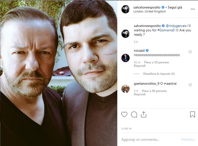 Ricky Gervais nel cast di Gomorra 5? I fan impazziscono «È lui O'Maestrale!»