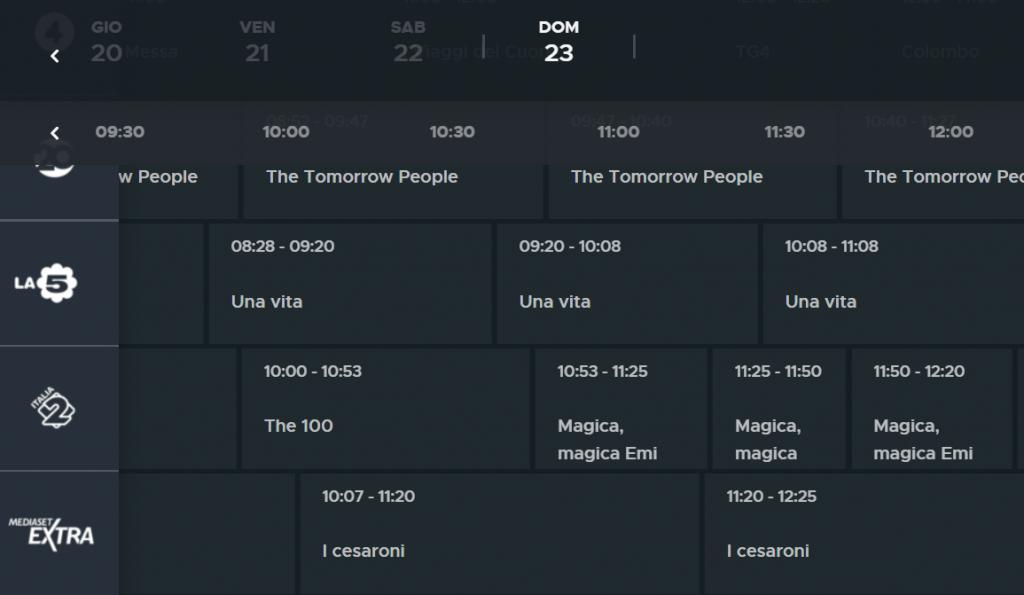 i-cesaroni-mediaset-extra-guida-tv
