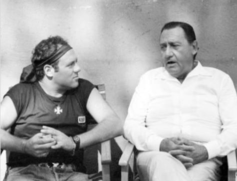 """Carlo Verdone e Alberto Sordi foto mai vista prima sul set di """"Troppo Forte"""""""