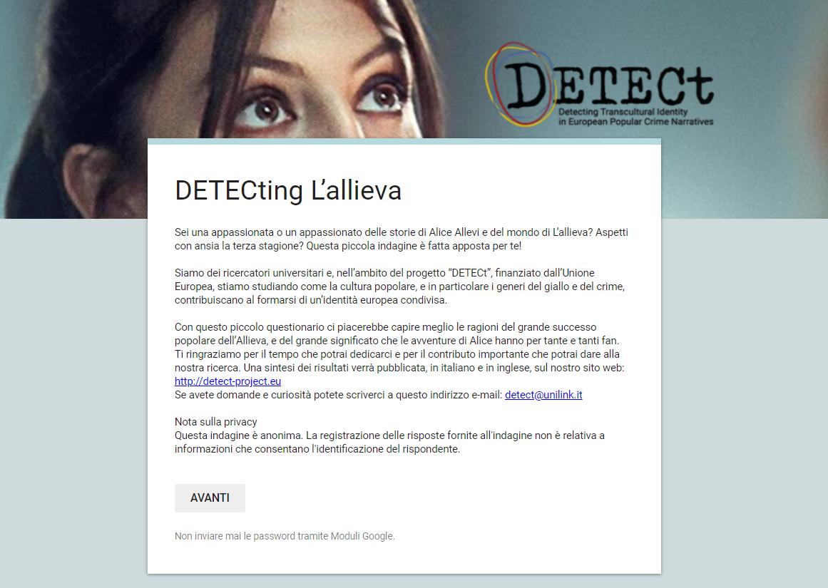 DETECting l'Allieva, ultime ore per votare il sondaggio del progetto europeo Detect H2020 della Link Campus University