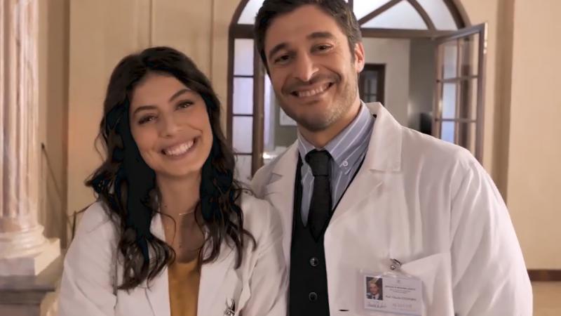 L'Allieva 3 Alice e Claudio (Alessandra Mastronardi e Lino Guanciale) dal buon San Valentino al litigio (di scena)