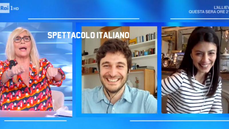 Lino Guanciale e Alessandra Mastronardi a Domenica In «Speriamo di tornare presto sul set de L'Allieva 3» stasera L'Allieva 2 su Rai 1