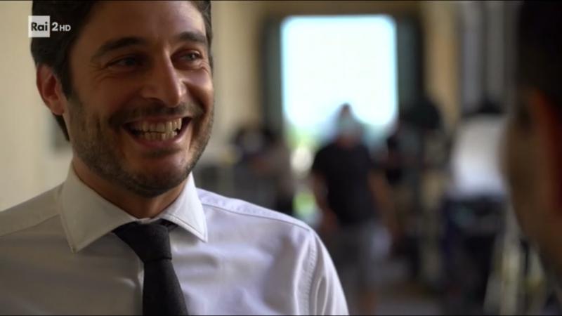 Primo set Rai 2, ospiti Lino Guanciale e Alessandra Mastronardi intervista dal set de L'Allieva 3