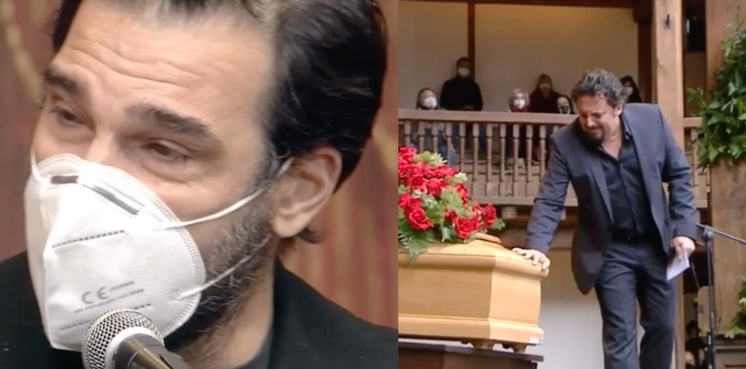 Funerali Gigi Proietti, il discorso commovente di Enrico Brignano, Edoardo Leo e Paola Cortellesi VIDEO