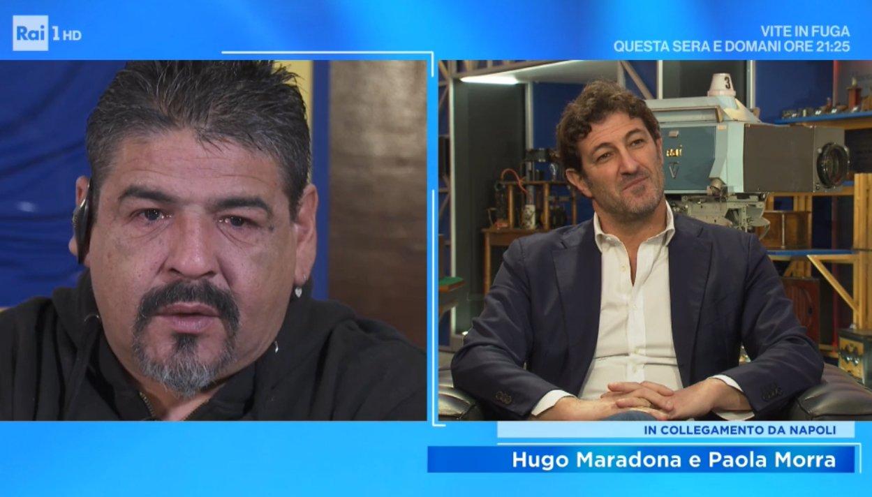 Ferrara e Maradona, il ricordo a Domenica In. Il fratello Hugo in lacrime