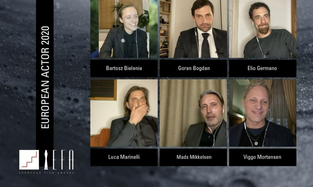 European Film Awards 2020 vincitori, Another Round miglior film Efa, vince Sironi per l'Italia