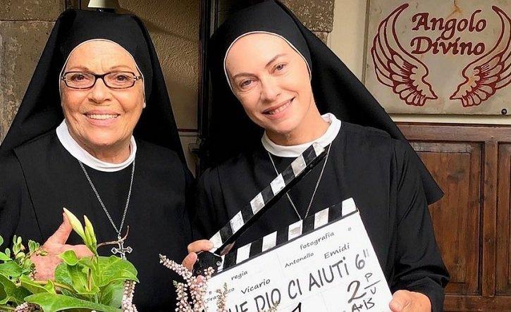 Che Dio ci Aiuti 7 quando iniziano le riprese. L'annuncio di Valeria Fabrizi (Suor Costanza)