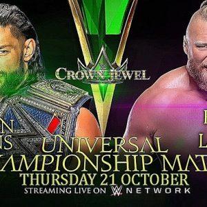Crown Jewel 2021 match card, orario italiano, dove vederlo: gli incontri del 21 ottobre