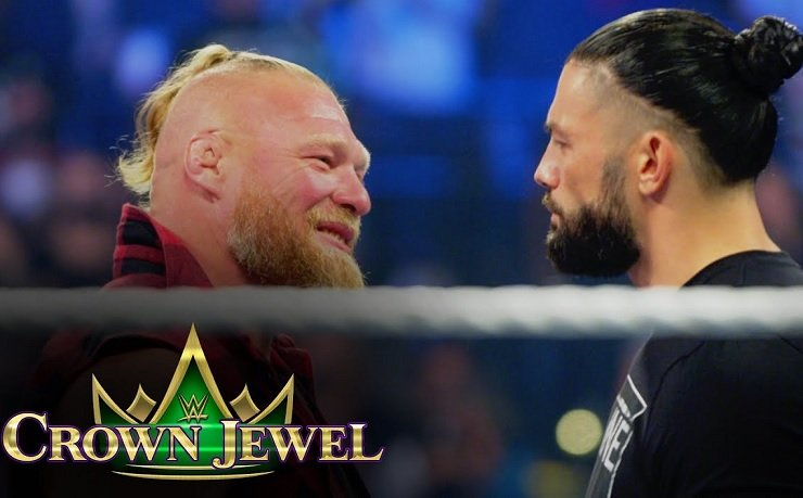 Crown Jewel 2021 risultati: WWE Results match Roman Reigns vs Brock Lesnar
